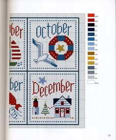 6 of 6 for the sea calendar months/Gallery. Cross Stitch Sea, Cross Stitch Beginner, Cross Stitch Needles, Cross Stitch Charts, Cross Stitch Designs, Cross Stitch Patterns, Quilt Stitching, Cross Stitching, Cross Stitch Embroidery