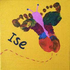 Maak een leuke voetenvlinder: een origineel en persoonlijk cadeau!