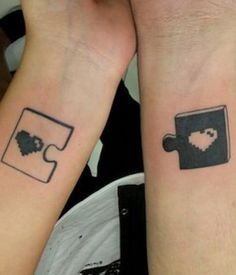 Matching Tattoos: Tattoo Ideas for Couples @GirlterestMag #couples #love #Matching #Tattoos #lovers #wedding #ringtattoos #lockandkey #kingandqueen #relationship #marriage