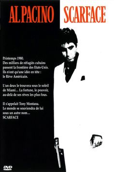 I like the way that the poster is equally split between two colours creating a large contrast, I also like the use of a completely different colour for the title. The different coloured title makes it stand out very clearly and catch the eye. I think the way that Al Pacino pulls black and the white across to the opposite sides is very good.