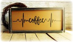 Coffee Bar Sign, Rustic Kitchen Decor, Coffee Lover Gift, Coffee Themed Kitchen, Handmade Country Rustic Wooden Sign