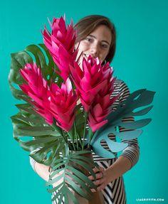 tropical paper bouquet
