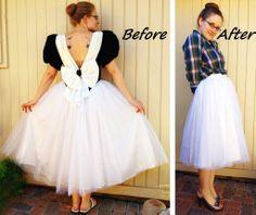 Tulle+Skirt+Refashion+#howto+#tutorial