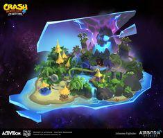 ArtStation - Crash Bandicoot 4 - Dimensional Map concepts, Airborn Studios Map Games, Crash Bandicoot, Concept, Artwork, Projects, Studios, Log Projects, Work Of Art, Blue Prints