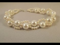 "Bracelet ""Waves around pearls"" - step by step tutorial"
