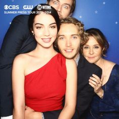 Torrance Coombs (Bash), Adelaide Kane (Mary), Toby Regbo (Prince Francis) and Megan Follows (Queen Catherine) #Reign