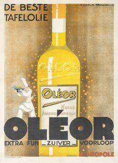 Oleor - De Beste Tafelolie by Mercier, Jean A. | Shop original vintage #posters online: www.internationalposter.com.