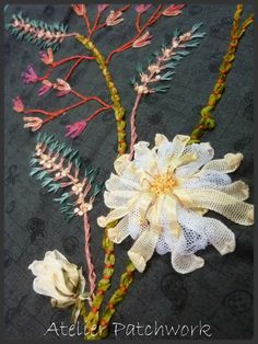 Broderie au ruban - Ribbon embroidery