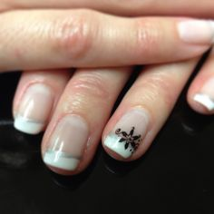 Elegant Shellac French Manicure