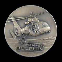 HH-65 DOLPHIN UNITED STATES COAST GUARD AVIATION Custom Challenge US Coin