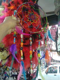 With big glass beads