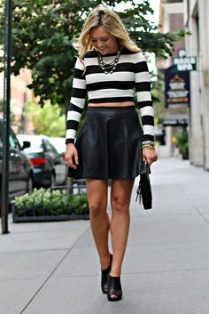 What to Wear with a Crop Top Black Leather Skirt Outfits, Lake Shore, Play Dress, Virtual Closet, Girl Stuff, Pretty Woman, Spring Outfits, Plus Size Fashion, Badass