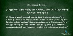 Classroom strategies to address the achievement gap (Tip 5)
