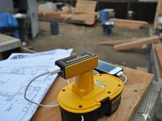 PoweriSite is a high performance Dual USB charger that uses your high capacity Dewalt battery to charge any USB device. Simply attach the PoweriSite charger to any compatible power tool ba Gadgets And Gizmos, Technology Gadgets, Tech Gadgets, Cool Gadgets, Power Tool Batteries, Power Tools, Survival, Dewalt Tools, Cordless Tools
