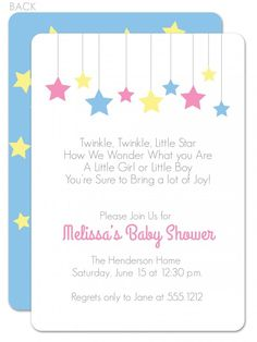Star baby shower invitation twinkle star baby shower invitation twinkle twinkle baby shower invitation filmwisefo