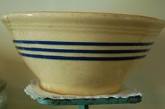 yellow ware bowl