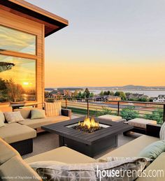 Fire pits complement various patio designs