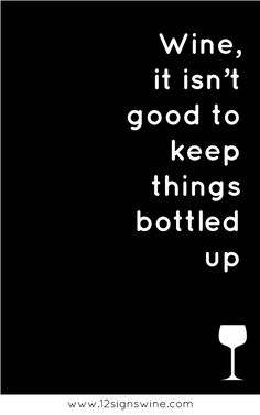 This is why there is never a full bottle in my house.... not because I have a problem or anything! ;)