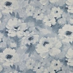 Imbued with the inherent grace of natural linen, Nomad is a series of subtle prints enhanced by paste white detailing. Motif Floral, Floral Fabric, Floral Patterns, Fabric Decor, Fabric Design, Curtain Material, Curtain Fabric, Rose Quartz Serenity, Prestigious Textiles