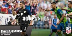 All together now. #OneNation | Clint Dempsey & Deandre Yedlin start Clint Dempsey, Copa America Centenario, First Nations, Baseball Cards, Sports, Hs Sports, Sport