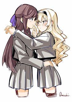 Yuri Ships Roleplay - Claudine x Maya(Revue Starlight) Cute Lesbian Couples, Lesbian Art, Anime Couples, Yuri Manga, Yuri Anime, Anime Girlxgirl, Chica Anime Manga, Yuri Cosplay, Yuri Comics