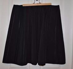 Lane Bryant Black Tuxedo Style Skirt Size 18 #LaneBryant #ALine
