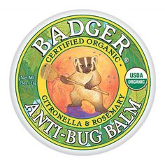 Badger Certified Organic Anti Bug Balm with Citronella & Rosemary 2 Sizes