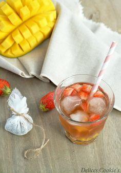 """Thé glacé mirabelle, fraises et mangue - par """"Délices cookie's"""""""