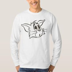 Tom Sleepy Cat T-Shirt - tap, personalize, buy right now! Sleepy Cat, Fitness Models, Toms, Long Sleeve, Casual, Sleeves, Mens Tops, Cotton, How To Wear