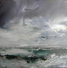 Janette Kerr, 'Porth Nanven', oil on canvas, 41 x 41cm: