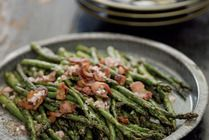 Spring Grilling Recipe: Grilled Asparagus with Bacon Vinaigrette Recipes from The Kitchn | The Kitchn