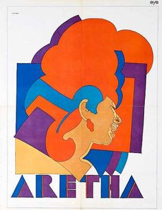 Milton Glaser's 1968 poster of Aretha Franklin