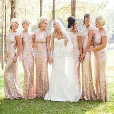 Sequin Shiny Open Back Bridesmaid Dresses ef3c839cbfde