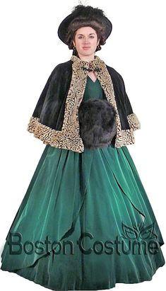fur trim cape caroler - Google Search