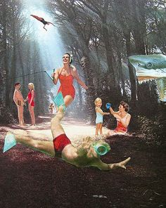 Deep in the Forest - by Shawn Marie Hardy from Collage-A-Dada