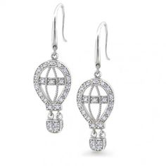 Purchase Bling Jewelry Cubic Zirconia Pave Hot Air Balloon Earrings from Bling Jewelry on OpenSky. Share and compare all Jewelry. Chandelier Earrings, Crystal Earrings, Crystal Jewelry, Dangle Earrings, Silver Chandelier, Silver Earrings, Diamond Earrings, Air Balloon, Balloons