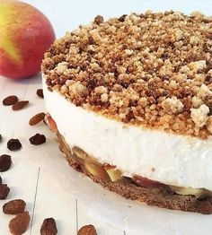 Just Apple Cheesecake, gezond, glutenvrij, genieten, appeltaart, lactosevrij, vegan, fit, food, pie, crumble, kruimels, kids, recept, cheesecake