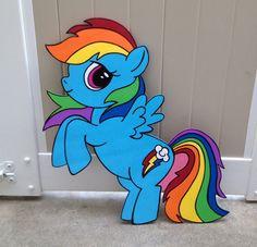1 - My Little Pony Wood Creation - Rainbow Dash - Pinky Pie - Applejack - Birthday Party Decor - Wall Decor - Wood Standee Birthday Party Decorations, Birthday Parties, My Little Pony Birthday Party, Rainbow Birthday, 3rd Birthday, Imagenes My Little Pony, Little Poni, My Lil Pony, Wood Creations
