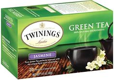 Twinings Green Tea, Green with Jasmine, 20 Count Bagged Tea (6 Pack) -- Click on the image for additional details.