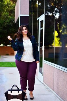THAT COLOR COMBINATION | Work Outfit Ideas for Curvy Women | Casual Work Outfit Ideas | Cute Work Outfits | 45 Catchy Work Outfit Ideas for Plus Size Women