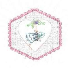 This free embroidery design from Embroidery Machine Designs is a heart.
