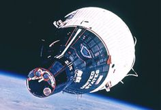 Gemini 7 capsule in space
