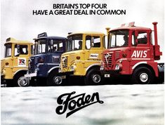 foden tractor units avis, hertz, ryder, godfrey davis, van hire (seacoaler) Tags: old cab lorry british motor panels adverts Old Lorries, Mercedes Truck, Road Train, Picture Tag, Commercial Vehicle, Classic Trucks, World Best Photos, The Good Old Days, Big Trucks