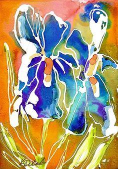 Iris Alcohol Ink by Hercio Dias