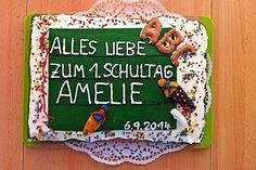 Tafel - Kuchen zur Einschulung / zum Schulanfang (Rezept mit Bild) | Chefkoch.de