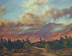 Landscape Painting  Original Acrylic Art on by GiftsbySuzanne, $325.00