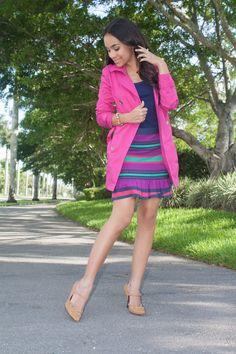 Pink Michael Kors Trench Coat http://stylishlyinlove.blogspot.com/