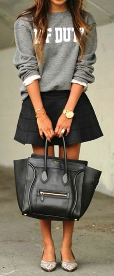 Comfy sweater and skirt fashion for winter