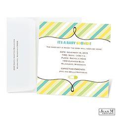 Soft Stripes Baby Shower Invitation