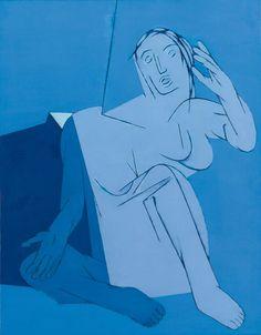 Tyeb Mehta (1925 – 2009) Blue Painting, 1982